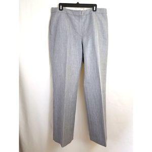 Kasper Size 14 Dress Pants Gray Blue